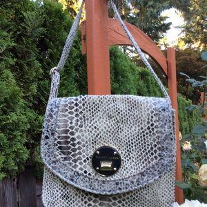 Elliott Lucca snakeskin leather crossbody bag